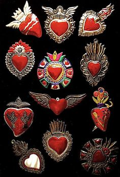 Mexican Folk Art: Sacred Hearts