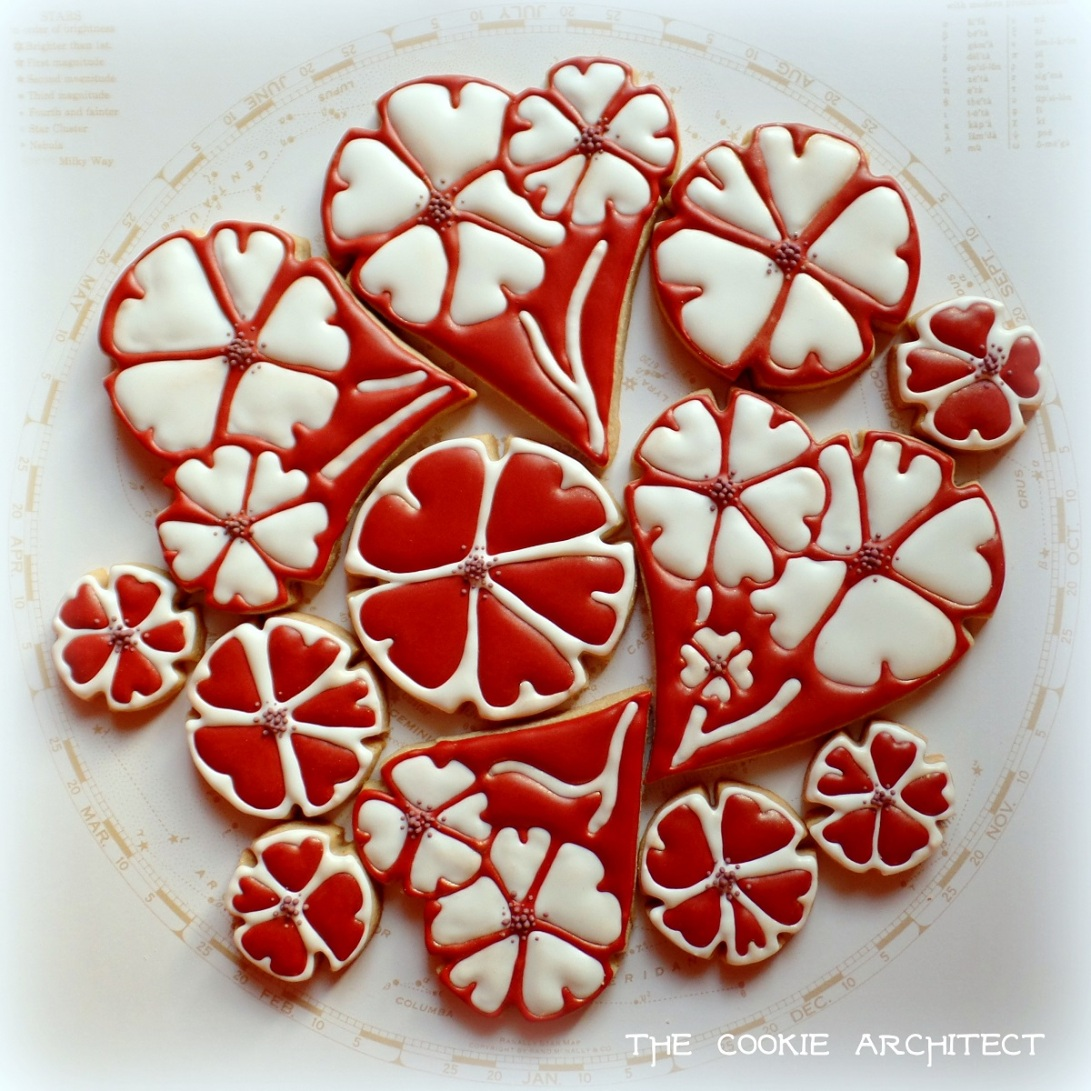 Valentine Heart Flowers | The Cookie Architect