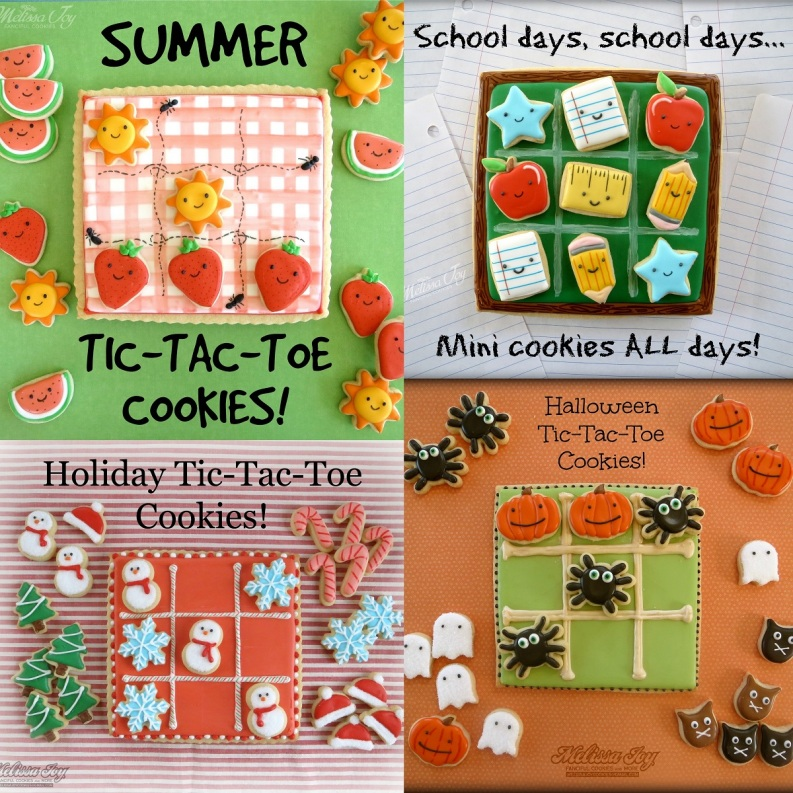 Melissa Joy Cookies Tic Tac Toe Cookies