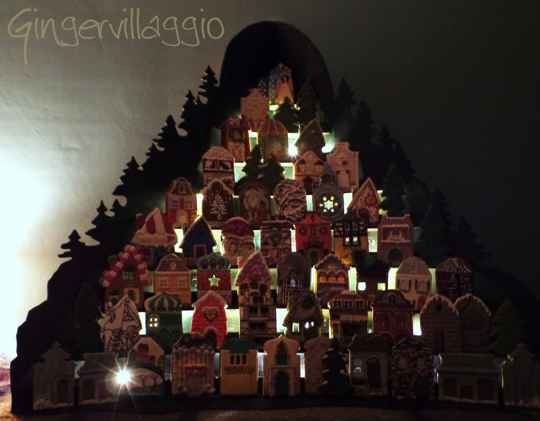Gingervillaggio at Night | The Cookie Architect