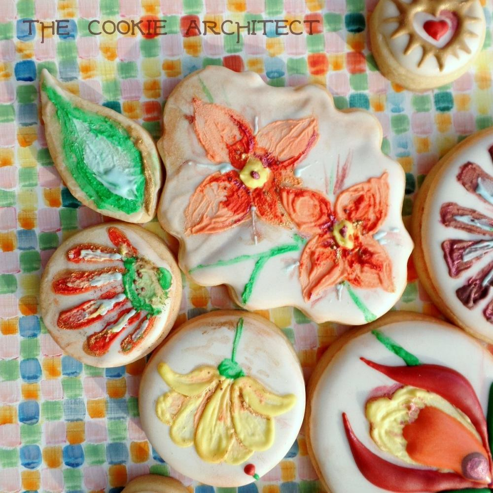 Painted Flower Details | The Cookie Architect
