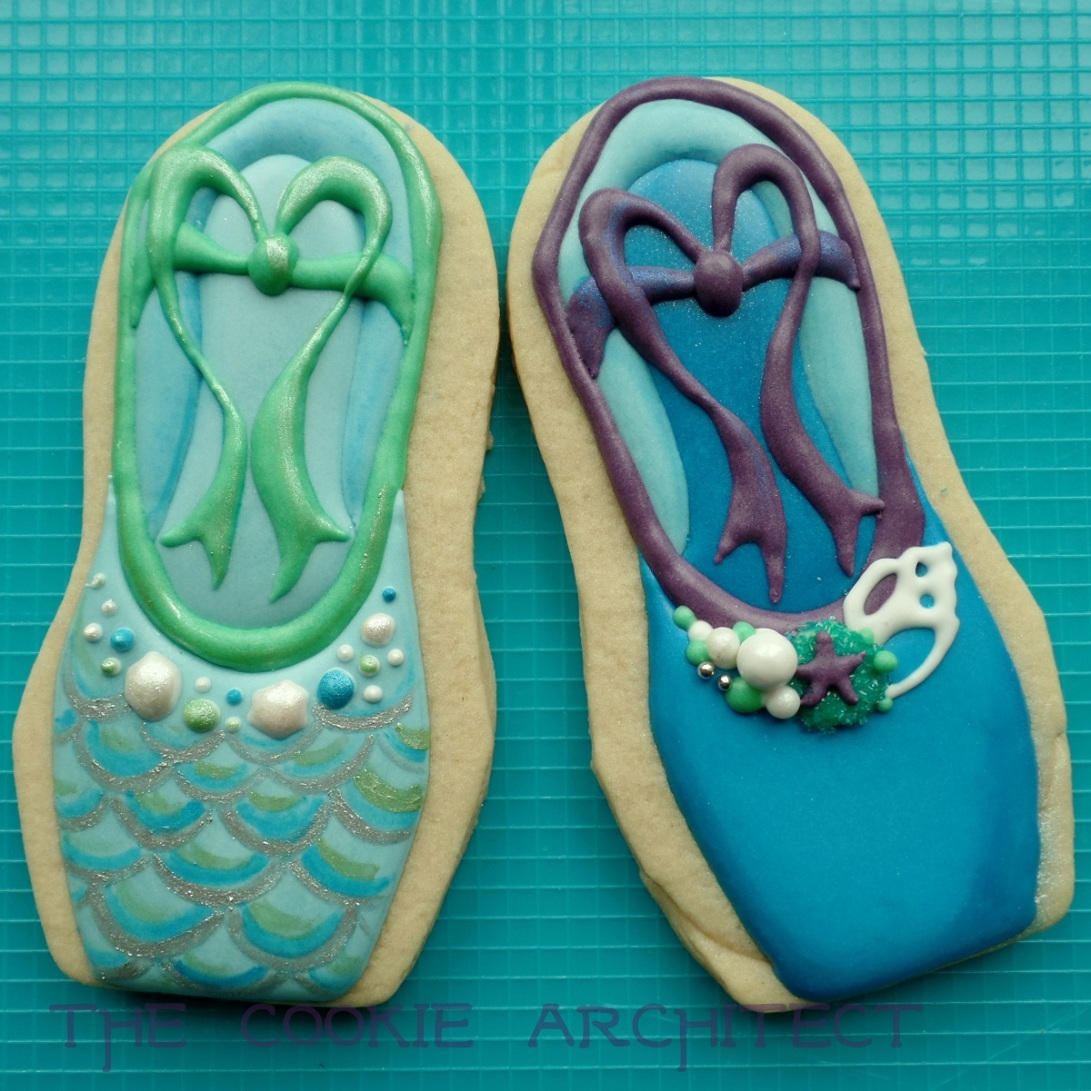 Mermaid Ballet Slippers | The Cookie Architect