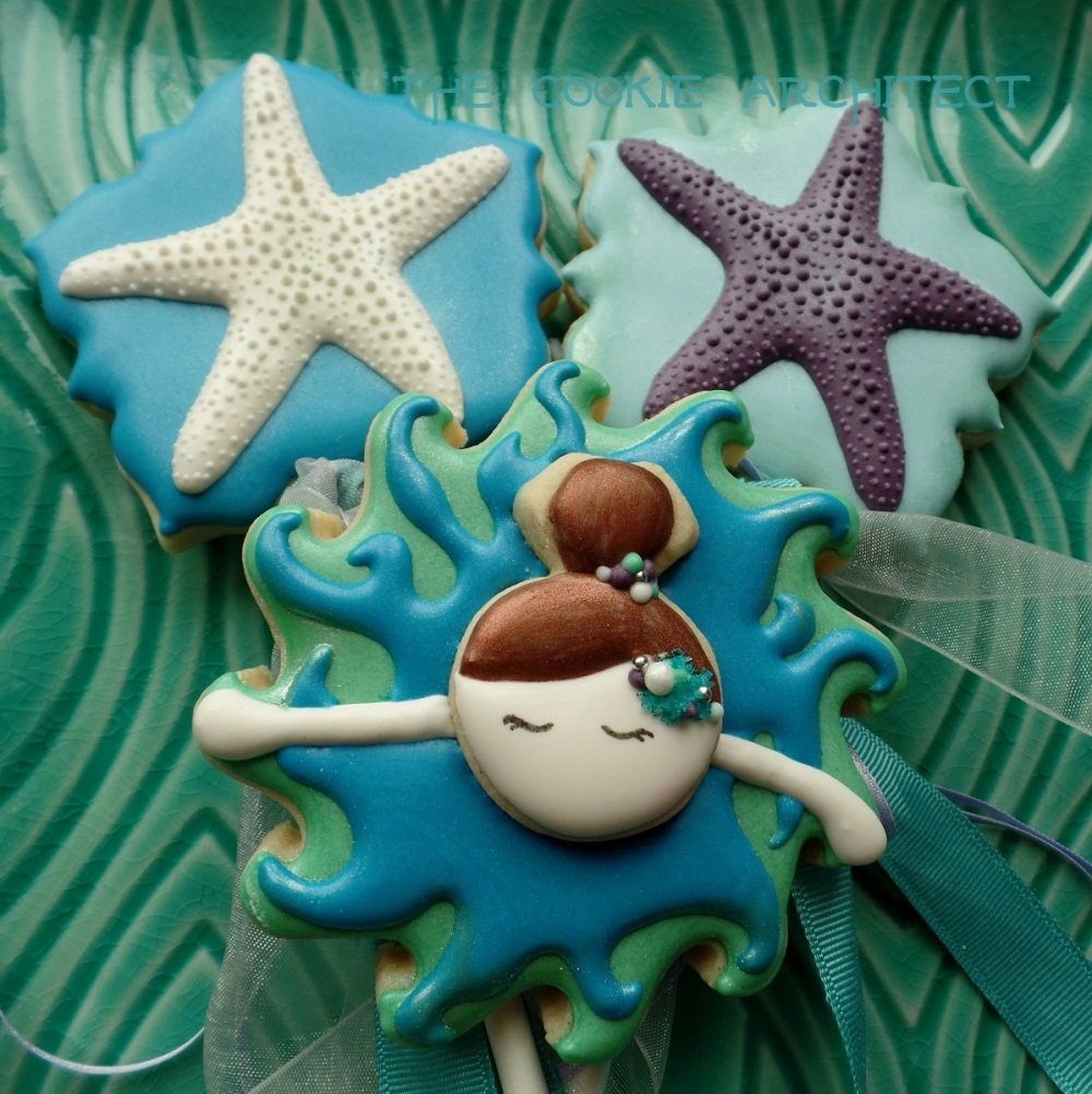 Ballerina and Star Fish Cookies |The Cookie Architect
