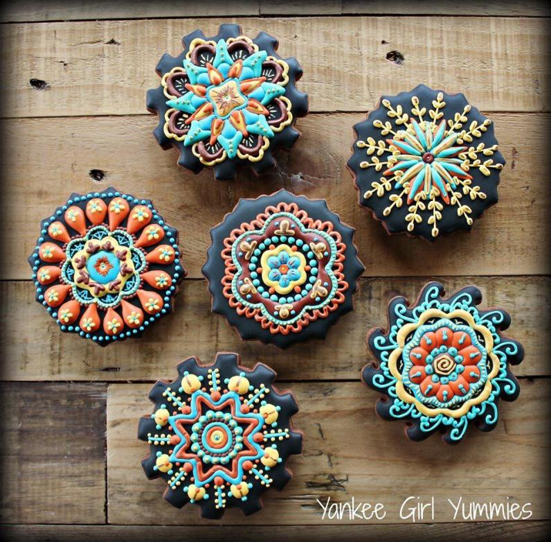 Yankee Girl Yummies Flower Mandalas