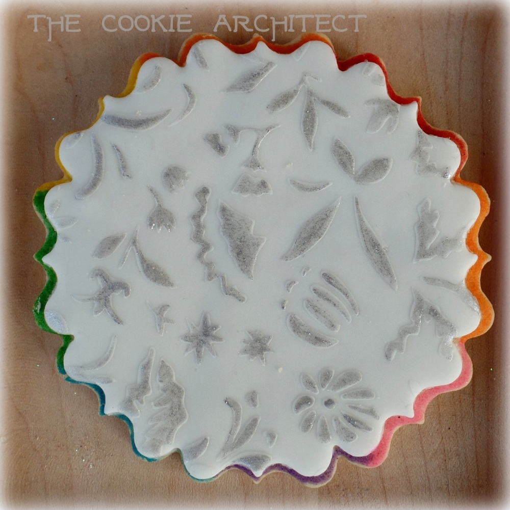 Lace stencil prototype | The Cookie Architect