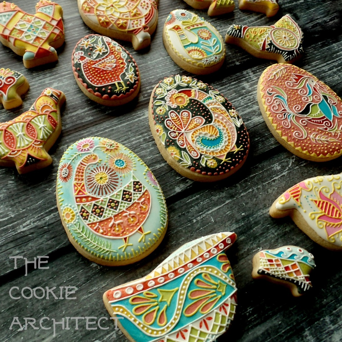 Pysanky Chickens Angle | The Cookie Architect