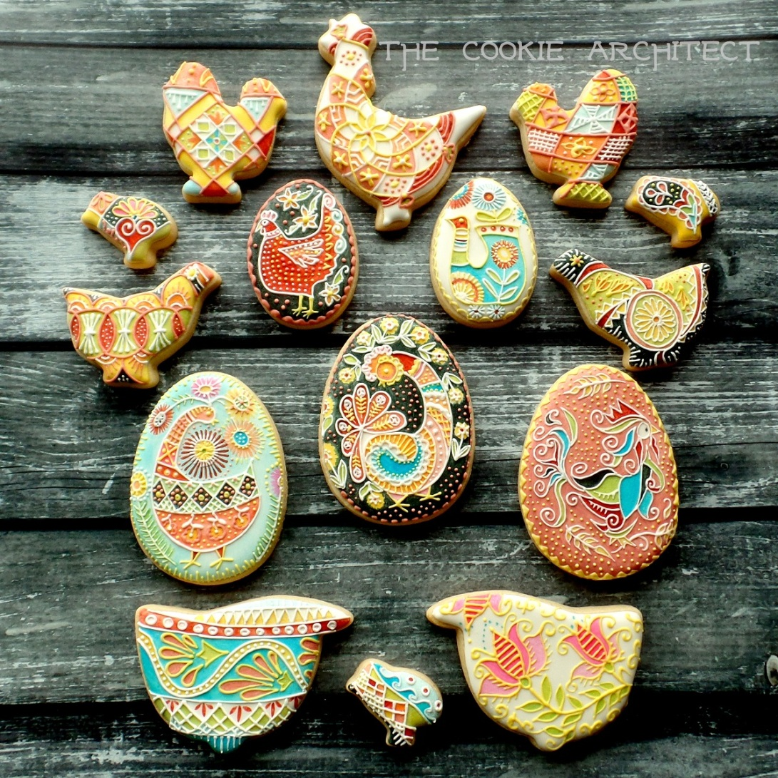 Pysanky Chicken and Eggs | The Cookie Architect
