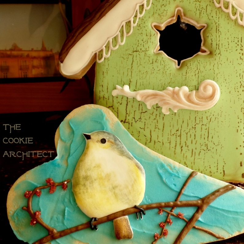 Bird on a Branch | The Cookie Architect