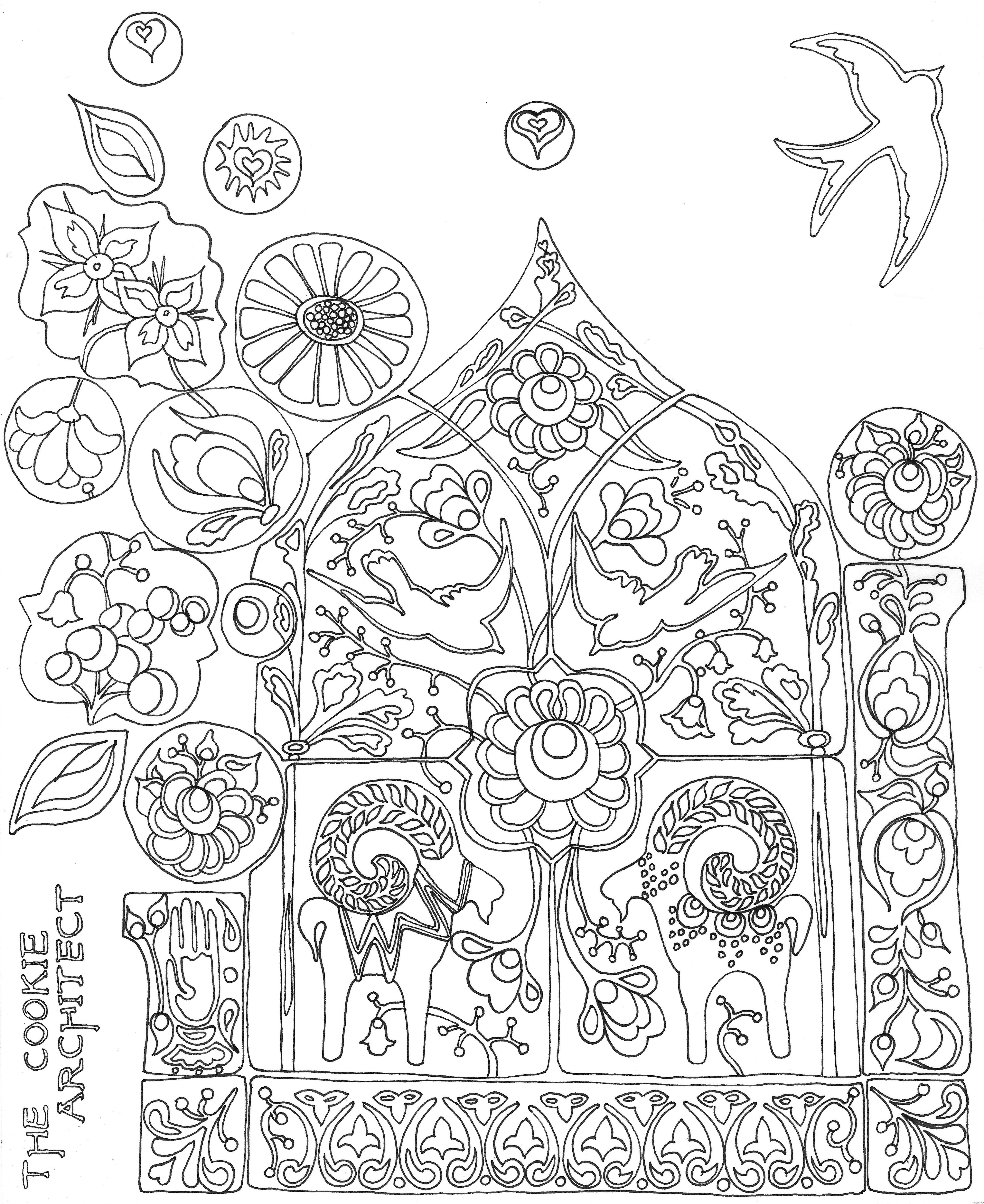 Cookie Tile Explosion Coloring Page