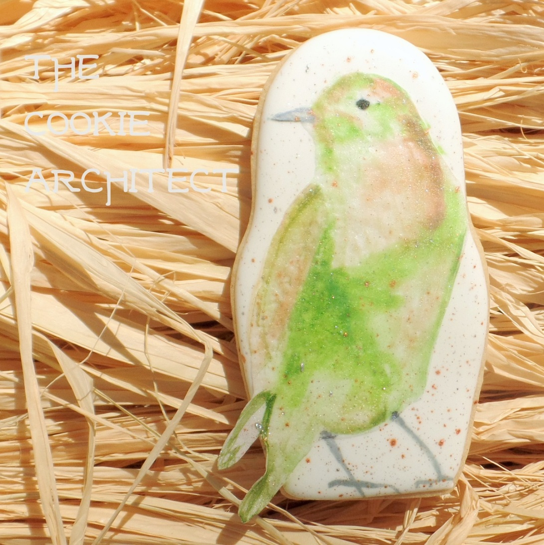 Green Bird | The Cookie Architect