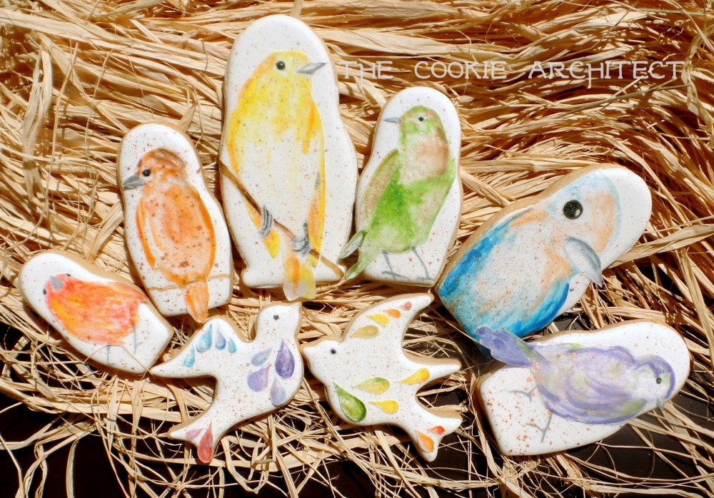 Wafer Paper Birds | The Cookie Architect
