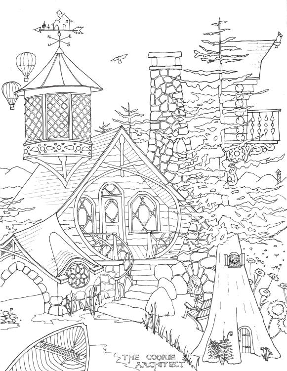 Adirondack Dreaming Coloring Page | The Cookie Architect