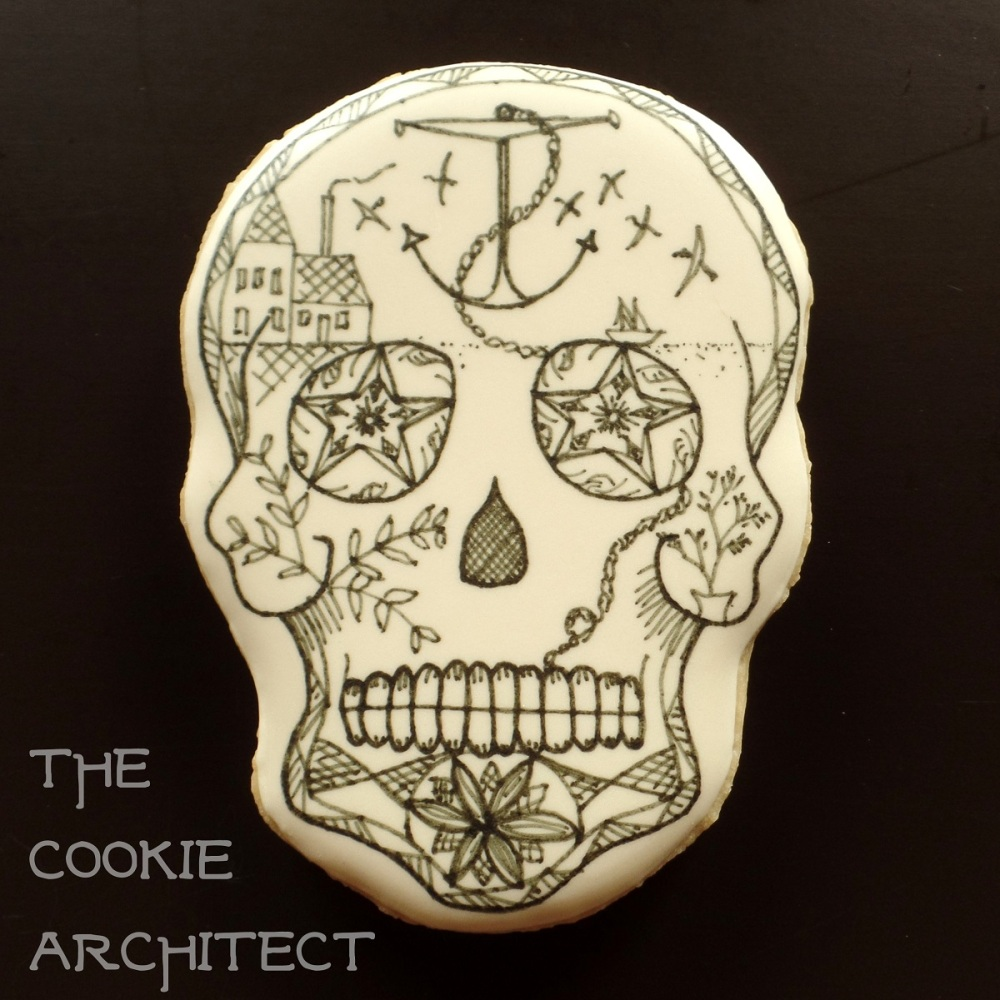 Scrimshaw Stay inspired Skull | The Cookie Architect