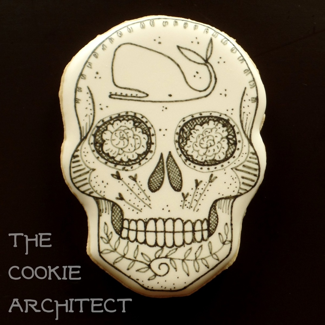 Jeanne Van Etten Inspired Skull | The Cookie Architect