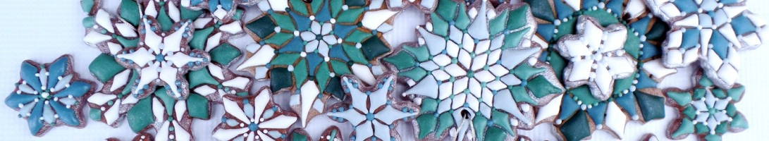 Snowflakes Banner for Cookie Connection   The Cookie Architect