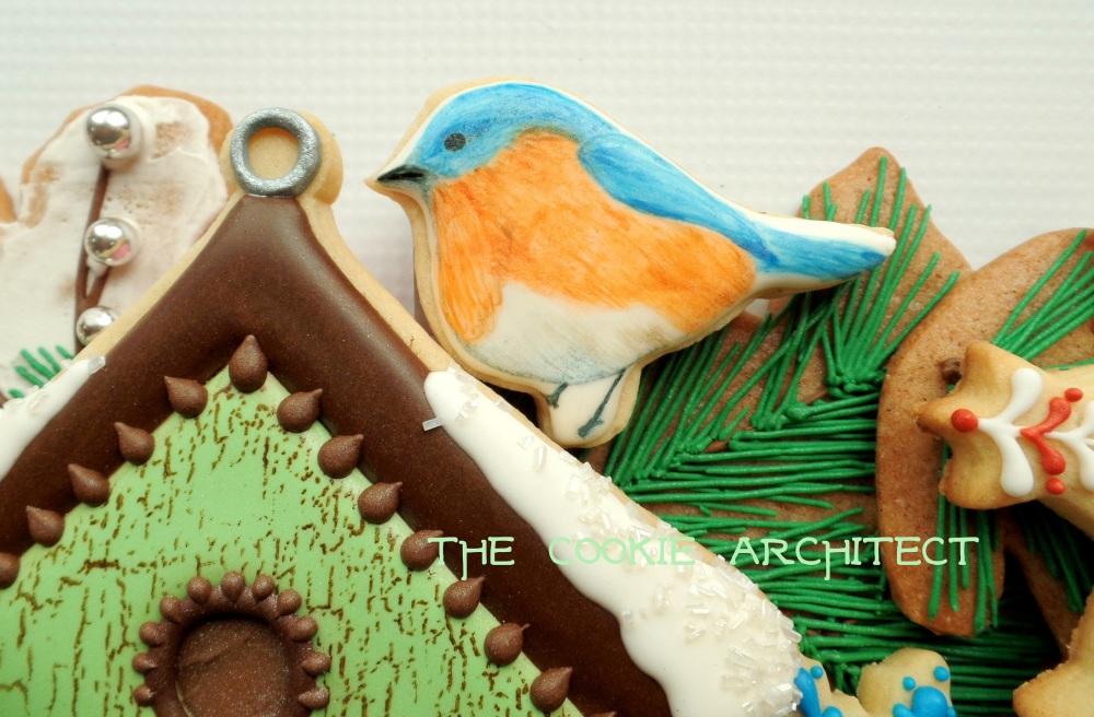 Blue Bird Detail | The Cookie Architect