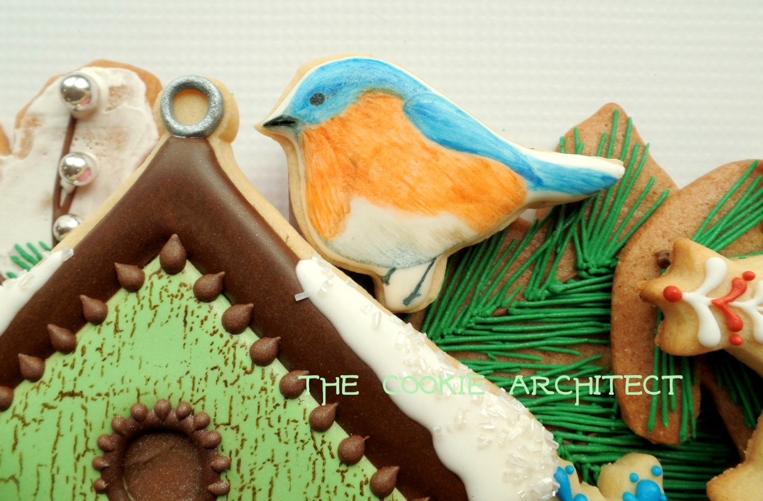 Blue Bird Detail | The Cookie Architect