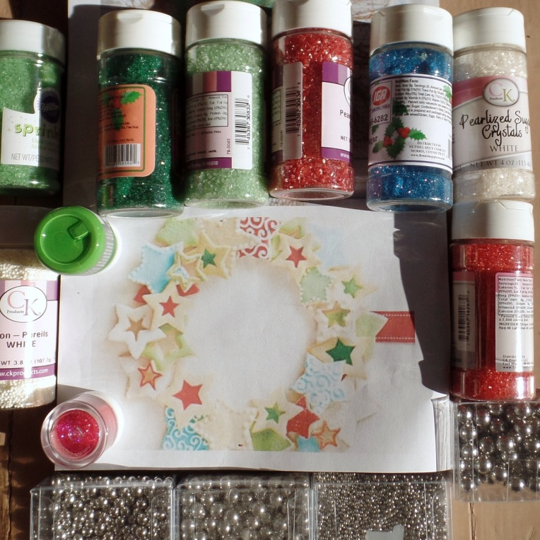 Color Palette Chosen and Sprinkles purchased.  Some given to me by How Sweet is That!