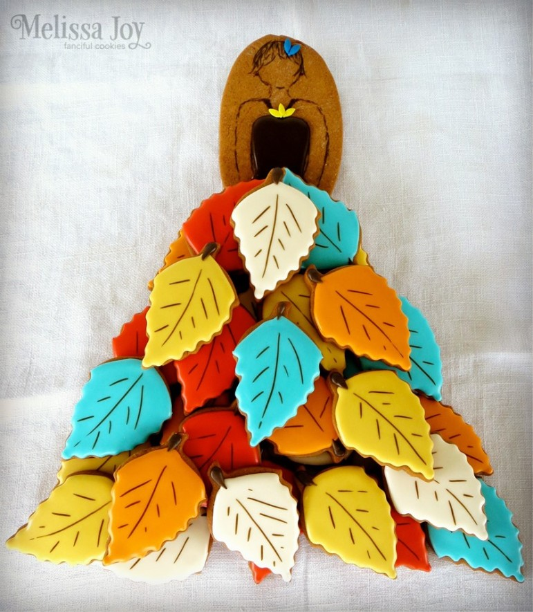 Fall Lady Tea Platter | Melissa Joy Fanciful Cookies