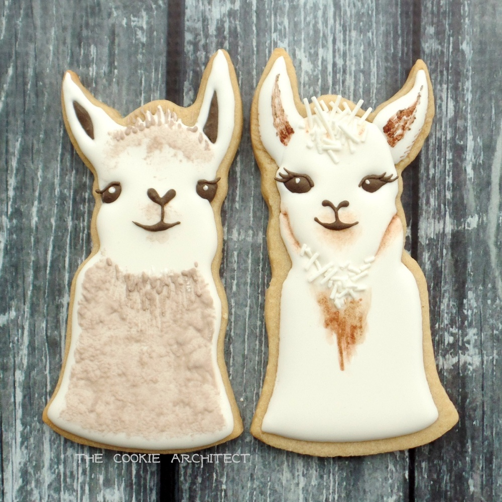 Sweet Llama Faces | The Cookie Architect