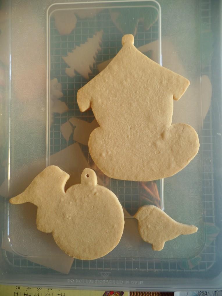 Handcut cookies.