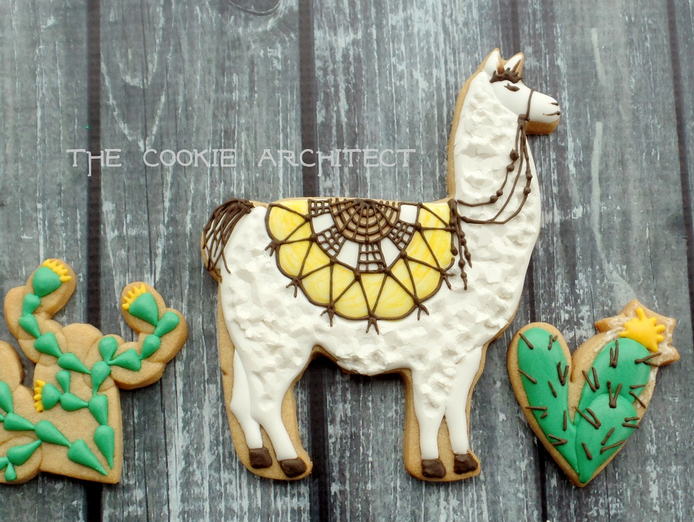 Llama Yellow | The Cookie Architect