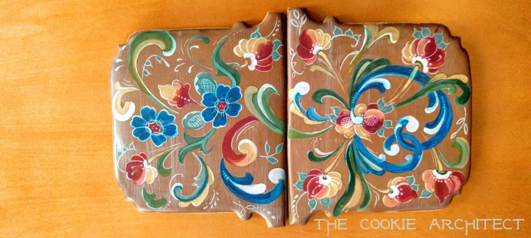 Rosemaling Roof Panels | The Cookie Architect