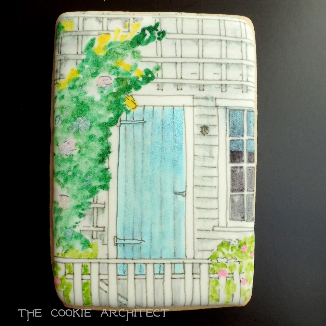 Nantucket Blue Door | The Cookie Architect