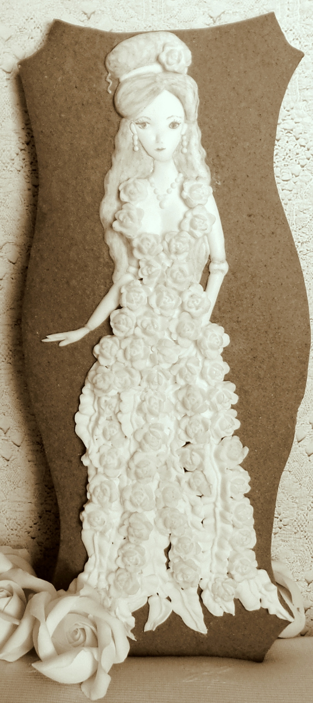 Sepia Rose Doll | The Cookie Architect