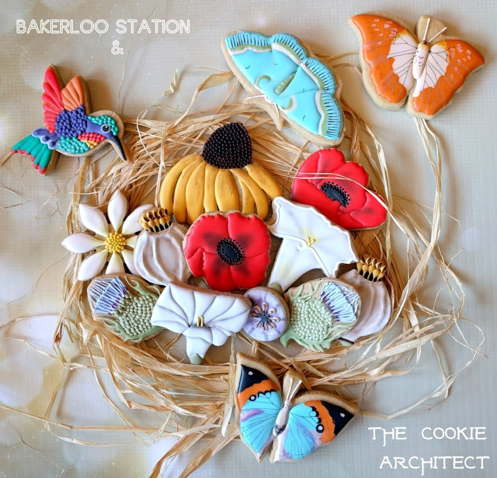 Flowers and Wings | The Cookie Architect