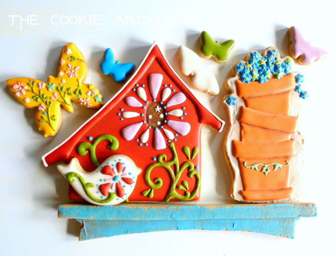 red-birdhouse | The Cookie Architect