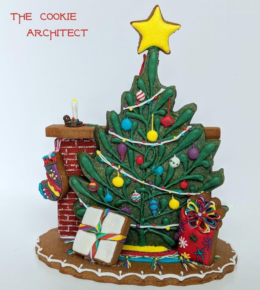 christmas centerpiece- tree side